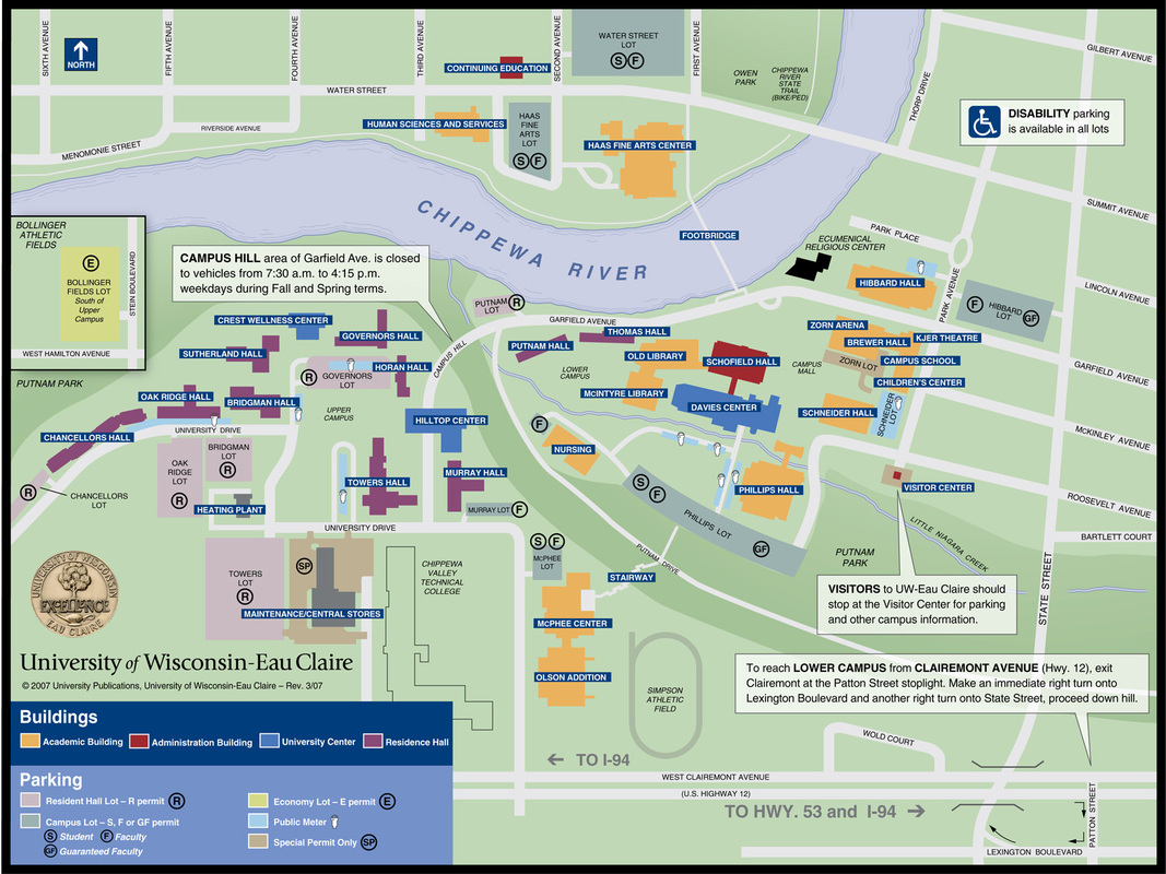 Uw Eau Claire Campus Map Review Geography Projects